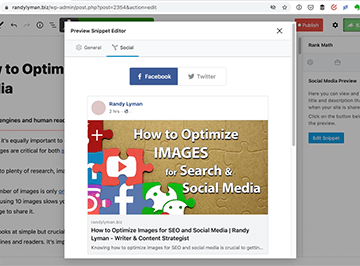 Sharing Preview - Optimizing Images for SEO and Social Media | Randy Lyman - Writing for the Age of Lies